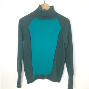 BENETTON Turtleneck Soft  Green Sweater